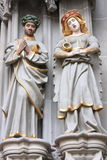 Religious sculptures at Bern cathedral Stock Images