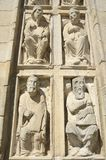 Religious sculptures at the Door of Forgiveness Royalty Free Stock Photos