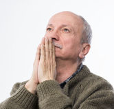Religious senior man Stock Images