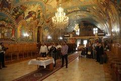 TIMISOARA, ROMANIA-08.20.2017 Religious service in an Orthodox Church stock photo