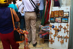Religious Shop. With displays, located in Jerusalem, Israel Royalty Free Stock Images