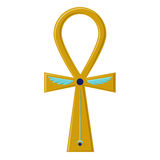 Religious sign of the ancient Egyptian cross - Ankh. A symbol of life. Symbols of Egypt Stock Photo
