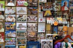 Religious souvenir shop. Typical religious souvenir shop in the historic district Borgo in Rome. Borgo is a neighborhood near the city of Vatican Royalty Free Stock Photos