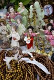 Religious souvenirs. Resligious souvenirs on a table Stock Photos