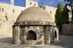 a religious space in Jerusalem royalty free stock images