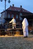 Live Nativity Scene in Zagreb Stock Image