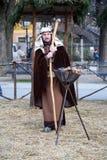 Live Nativity Scene in Zagreb Stock Photography