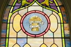Religious stain glass window Stock Photos