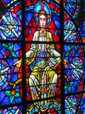 Religious Stain glass window: St John the Divine Cathedral. This is one of the many stain glass windows at St John the Divine Cathedral in NYC Royalty Free Stock Image
