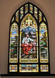 Religious Stained Glass Window. Image of a stained glass window Stock Images