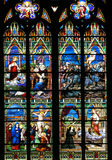 Religious Stained-glass Window. Church window royalty free stock image