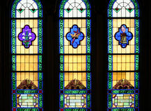 Religious Stained Glass Windows Royalty Free Stock Photography