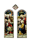 Religious stained glass windows, cathedral Stock Photo