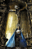 Religious statuary, Portugal. Religious statuary on alter of church in Portugal Stock Images