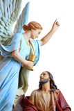 Religious statue. A statue of a religious scene royalty free stock image
