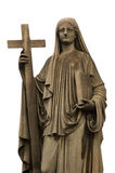 Religious statue. White background, Buenos Aires cemetery Royalty Free Stock Photo
