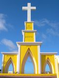Religious Statue in Bonaire. On top of a mountain stock image