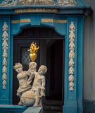 Religious statue carved in stone. Religious statue on a cathedral in Austria Royalty Free Stock Photos