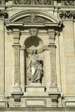 Religious statue on a catholic cathedral wall Royalty Free Stock Images