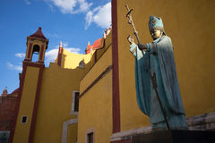 Religious statue in mexico. Religious statue in guanajuato city mexico Royalty Free Stock Images