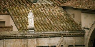 Religious statue siena Stock Photo