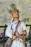 Religious Statue At Sikkim. A beautiful travel place with religious statue in a park at Sikkim Royalty Free Stock Photo