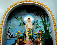 Religious statue in temple Royalty Free Stock Images