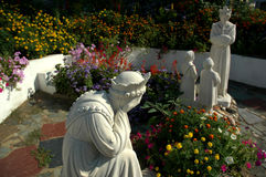 Religious statues II. Garden with statues stock photos