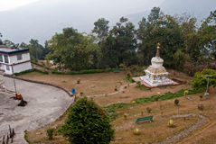 A religious Stupa. A chorten stupa is in the lap of nature outside the Ralang monastery in southern Sikkim, India Royalty Free Stock Image