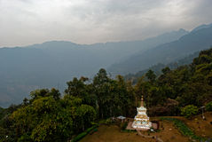 A religious Stupa. A chorten stupa is in the lap of nature outside the Ralang monastery in southern Sikkim, India Stock Photos