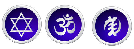 Religious symbol. Blue color white background Stock Images