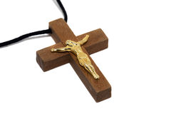 Religious symbol. Wooden cross which is a symbol of orthodox religion Royalty Free Stock Images