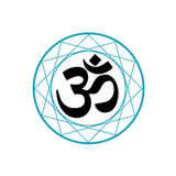 Religious Symbol of Hinduism. Pranava Royalty Free Stock Image