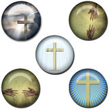 Religious Symbol Web Buttons Stock Image