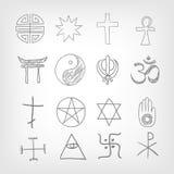 Religious symbolism. Grey Gradient Background. Vector Illustration. EPS 10 Stock Photography