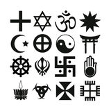 Religious symbols vector illustration