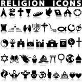 Religious symbols around the world Stock Photo