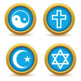 Religious symbols icon set Stock Images