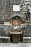 Religious symbols of the Orthodox Church in the town of Kotor Stock Photography