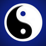 Religious sysmbol. Chinese religious symbol blue gradient Royalty Free Stock Image