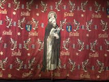Religious tapestry in the Hospices de Beaune - Beaune - France Royalty Free Stock Photography