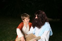 Religious teacher with boy Stock Photography