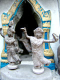 Religious Thailand statues. Thailand religious statues with dance poses Stock Photo