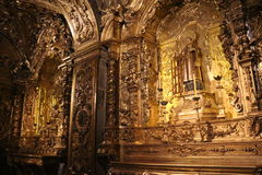 Religious Tourism in Rio de Janeiro Downtown. Rio de Janeiro, Brazil, December 19, 2016: Benedictine monastery of St. Benedict, founded in 1590 is one of the stock photos