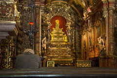Religious Tourism in Rio de Janeiro Downtown. Rio de Janeiro, Brazil, December 19, 2016: Benedictine monastery of St. Benedict, founded in 1590 is one of the royalty free stock photos