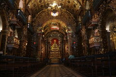 Religious Tourism in Rio de Janeiro Downtown. Rio de Janeiro, Brazil, December 19, 2016: Benedictine monastery of St. Benedict, founded in 1590 is one of the stock images