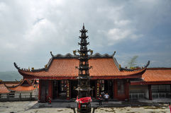 Religious tower and Buddhism temple Stock Image