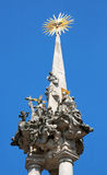 Religious tower. In Mikulov on South Moravia stock photography