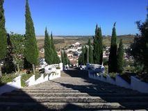 Religious Town. A view from the Sanctuary in Aljustrel Stock Photo