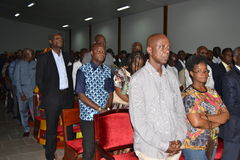RELIGIOUS VIGIL OF THE MOTHER OF ACTING CHAIRMAN OF FRONT IVOIRIAN PEOPLE, FROM THE PRESIDENT LAURENT GBAGBO Stock Photos